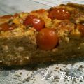 Quiche integral de requesón y tomatitos cherry
