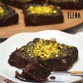 Brownies de chocolate y calabaza, sin azúcar,[...]