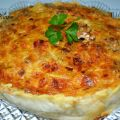 Quiche de Beicon, Nueces y Puerro