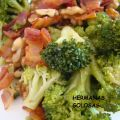 SALTEADO DE BROCOLI, BACON Y NUECES