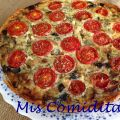 QUICHE DE BERENJENAS, TOMATITOS Y BACON
