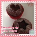 Cupcakes de Red Velvet con Chocolate