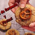 GALLETAS CON CHOCOLATE CARAMELO Y PRETZEL