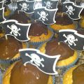 CUPCAKES PIRATAS CON CHOCOLATE.