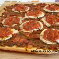 PIZZA DE ESPARRAGOS, BACON, QUESO DE CABRA Y[...]