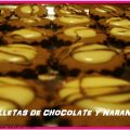 Galletas de chocolate y naranja
