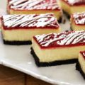 Barritas de cheesecake de chocolate blanco y[...]