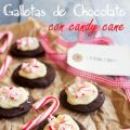 Galletas de chocolate con candy cane