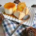 Flan de queso con galleta