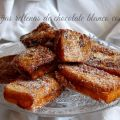 Torrijas rellenas de chocolate blanco y nueces