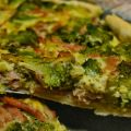 Quiche de brocoli y jamón york
