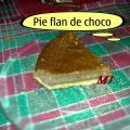 Pie flan de chocolate