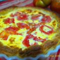Quiche de tomate natural y jamon