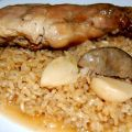 Arroz integral con conejo