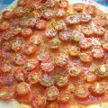 Pizza de tomatitos cherry