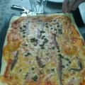Pizza de anchoas y alcaparras