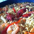 Paella de marisco de domingo
