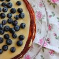 Tarta de chocolate blanco con lemon curd y[...]