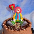 TARTA DE CHOCOLATE CON PAYASO