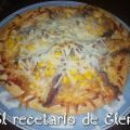 Pizza casera en pan arabe