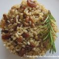 ARROZ INTEGRAL CON PASAS Y NUECES