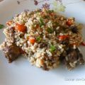 Arroz meloso con carrillada de ternera