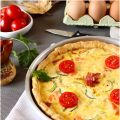 Quiche de salmon y tomatitos cherry