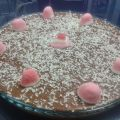 Tarta de chocolate y flan