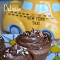 Cupcakes con doble de chocolate