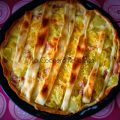 Quiche de tortilla, bacon y queso