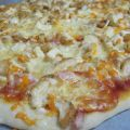 PIZZA DE POLLO Y BEICON CON POOLISH