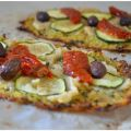 Pizza con Base de Coliflor {Vegana}