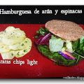 Hamburguesa de atún y espinacas / Tuna and[...]
