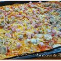 PIZZA DE BEICON Y JAMÓN YORK