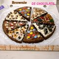 Pizza Brownie de CHOCOLATE.